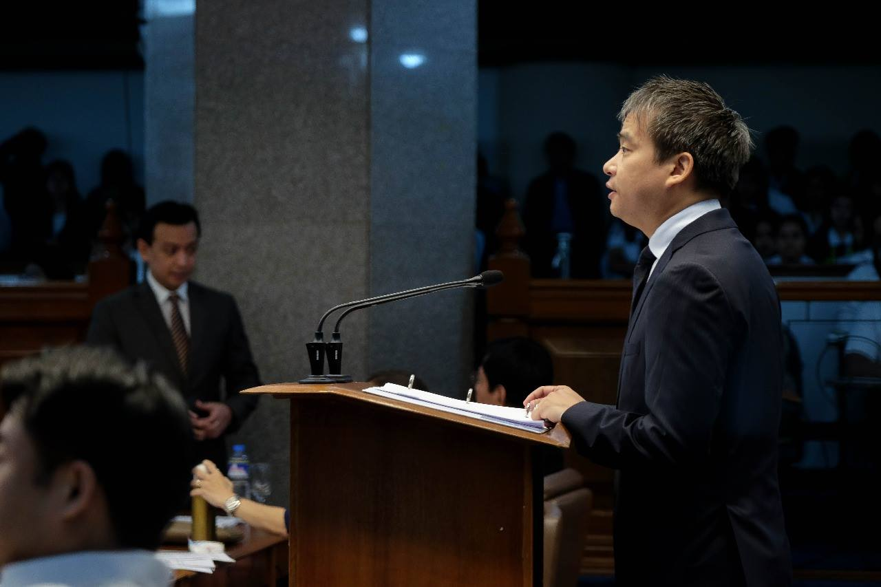 "Villanueva said that the progress of the measure is a turning point for the Senate saying it is a proof that the ""Senate works expeditiously to guarantee the well-being of ordinary Filipinos."" (Photo: Joel Villanueva/Facebook)"