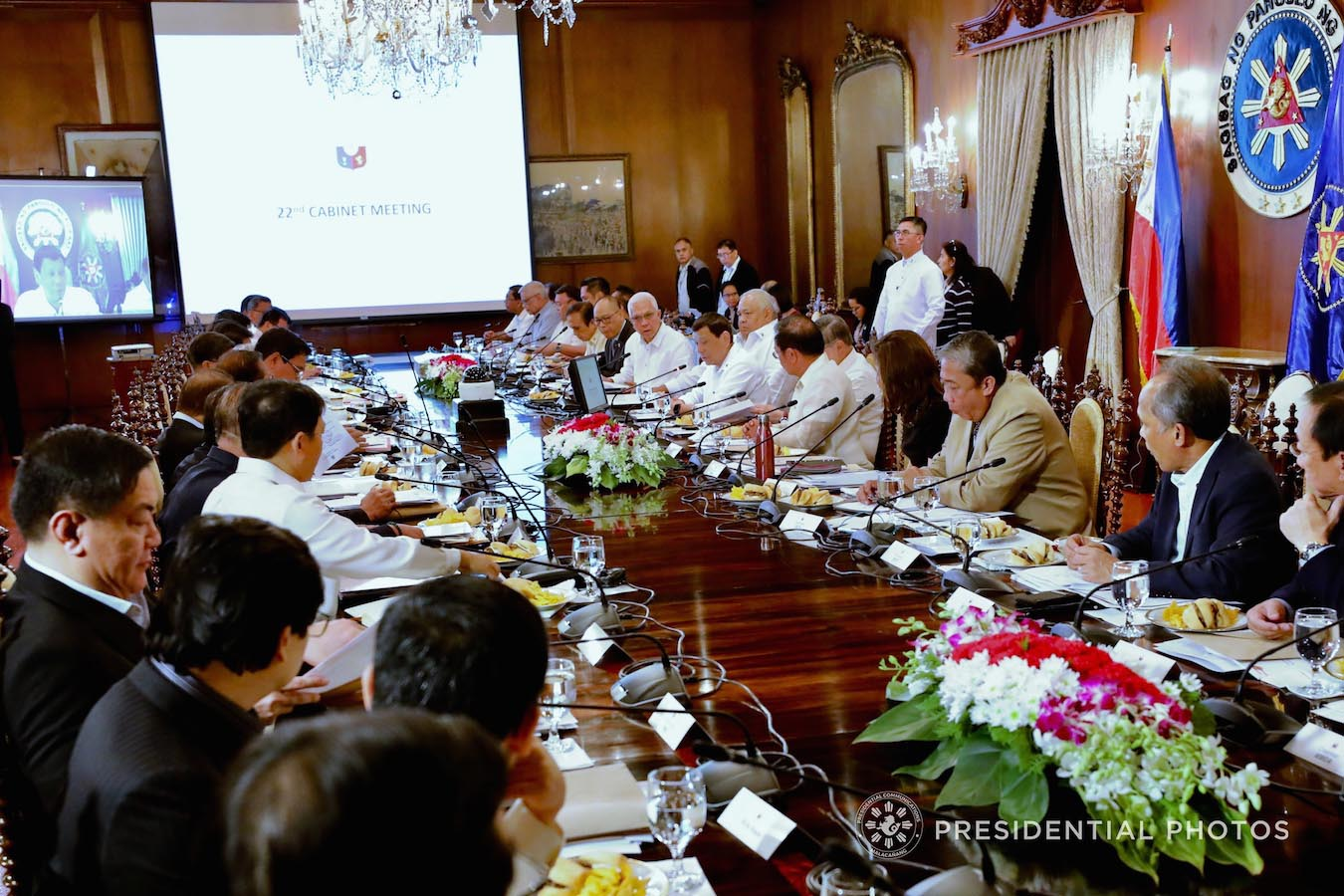President Rodrigo Roa Duterte presides over the 22nd Cabinet Meeting at the Malacañan Palace on February 5, 2018. RICHARD MADELO/PRESIDENTIAL PHOTO