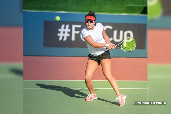 Anna Clarice Patrimonio in action during the opening day of the Fed Cup competition in Bahrain on Tuesday. (Contributed Photo)