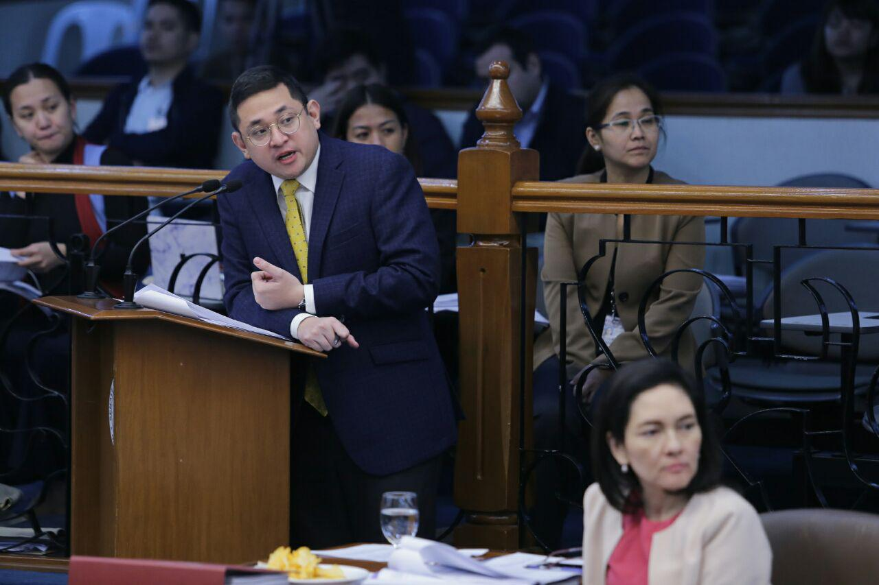 """FILE: Aquino, the principal sponsor and co-author of RA 10931 or the Universal Access to Quality Tertiary Education Act, said that free college should benefit the Filipino people and should not be used for """"blackmail"""" or as """"hush money."""" (Photo: bamaquino.com)"""