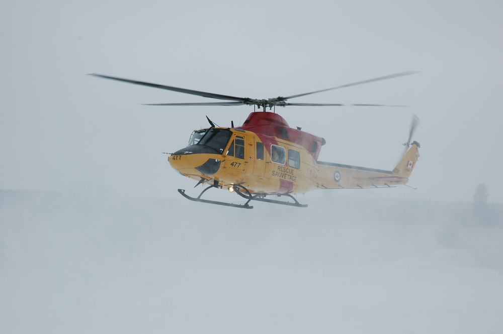 Generally, these helicopters are capable of carrying 14 passengers and flying at a maximum speed of 140 knots (around 259 kilometers), cruise speed of 122 knots (226 kilometers per hour) and a range of 402 nautical miles (745 kilometers). (Seen in this Shutterstock photo is a Bell-412 helicopter)