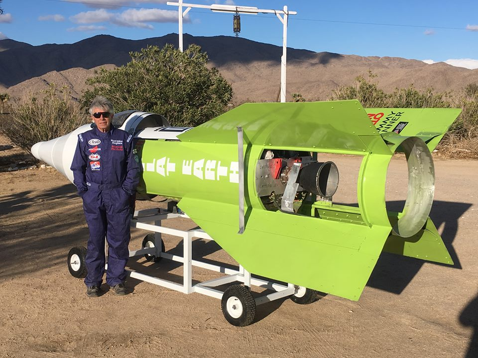 Flat-Earther blasts off into California sky in homemade steam-powered rocket