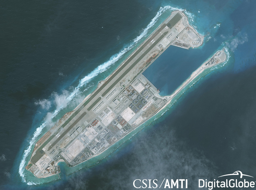 United States displays military muscle in the South China Sea