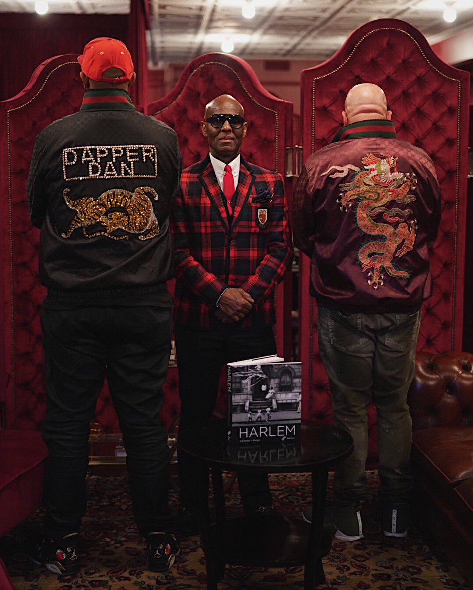 33feff0e6 Dapper Dan's outfits in the 1980s were original designs embossed with  designer logos from Gucci, Fendi and Louis Vuitton among others — without  the brands' ...