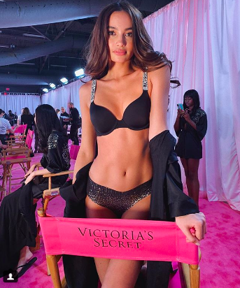 47dc529eac Filipina model Kelsey Merritt shares first Victoria s Secret Fashion Show  experience. By Gianna Llanes