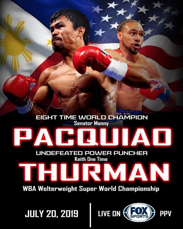 when does manny pacquiao fight thurman
