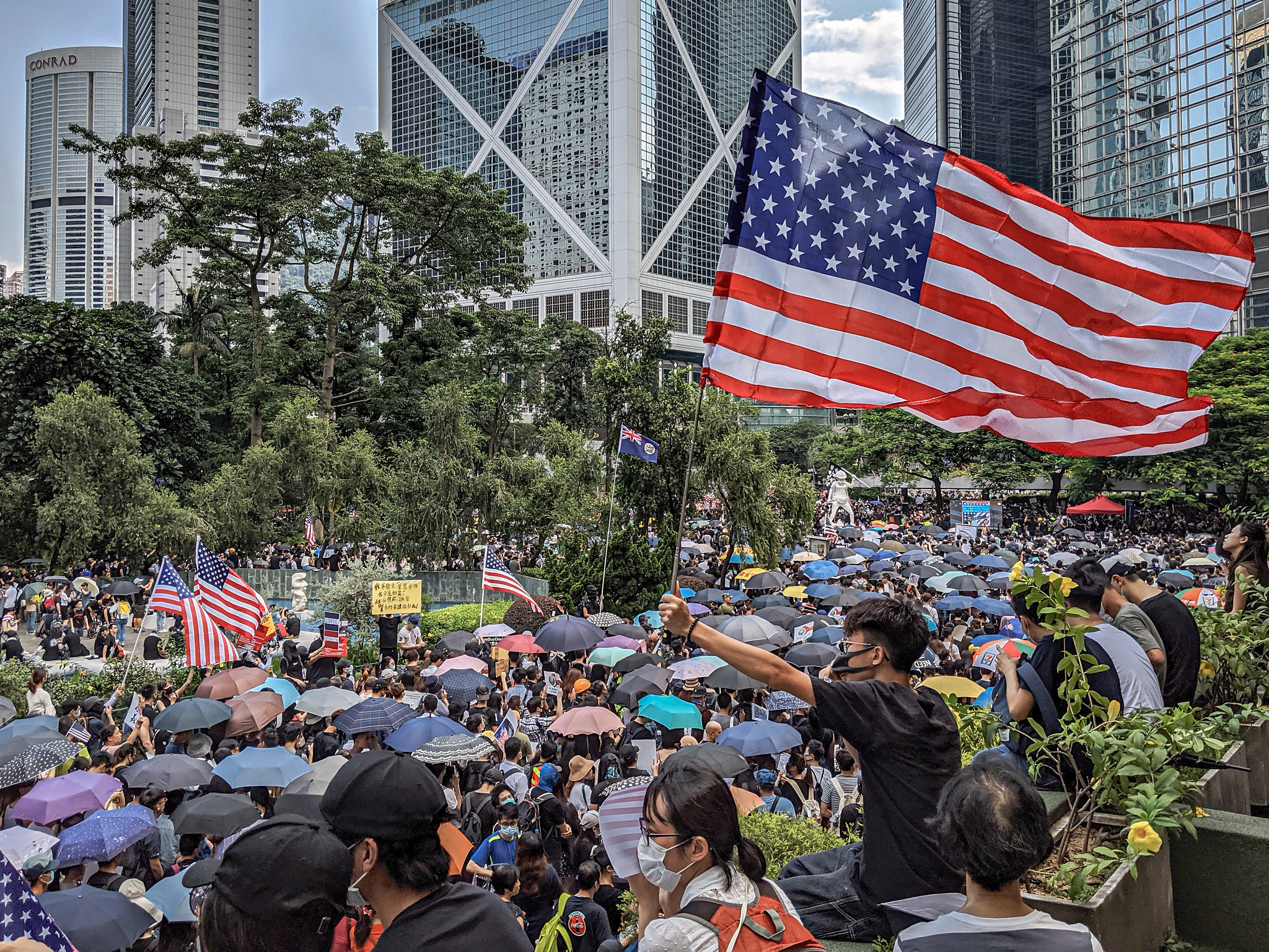 Hong Kong tells US to stay out